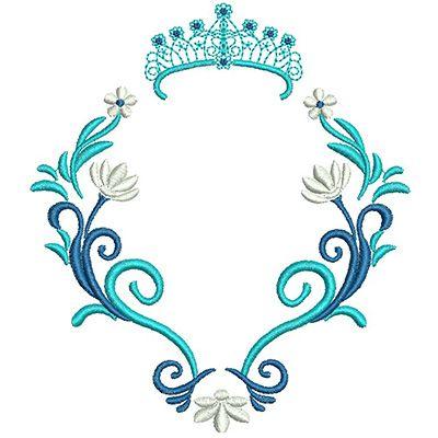 Moldura Frozen Com Coroa Monograma Casamento Desenho De Coroas Molduras