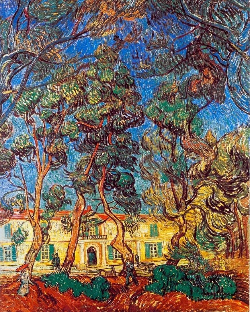 Arte Abstracto Hospital Vincent Vangogh Trees In The Garden Of Saint Paul Hospital