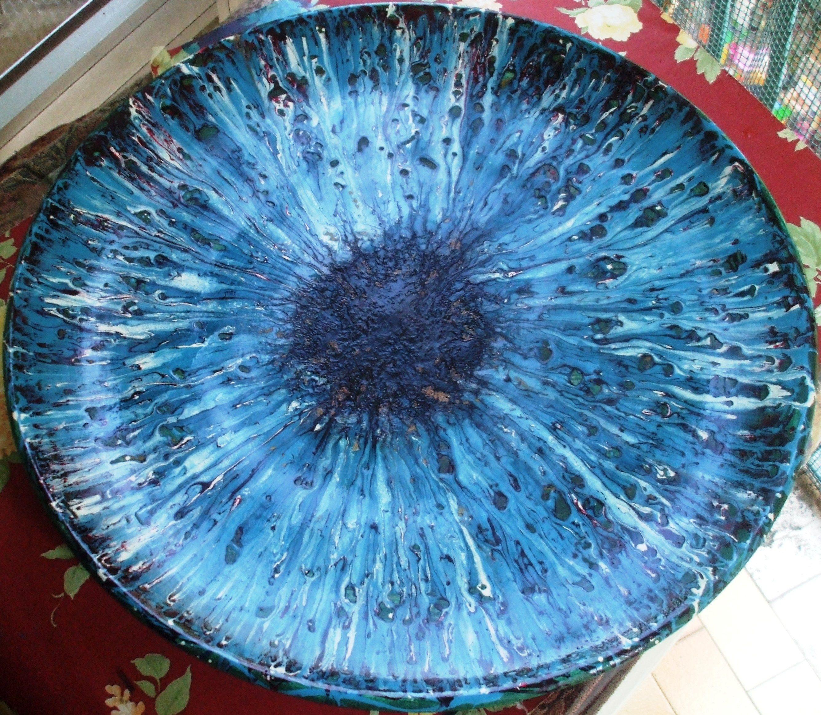 """Ceramica """"Medusa azzurra"""" diam. 50 anno 1992"""