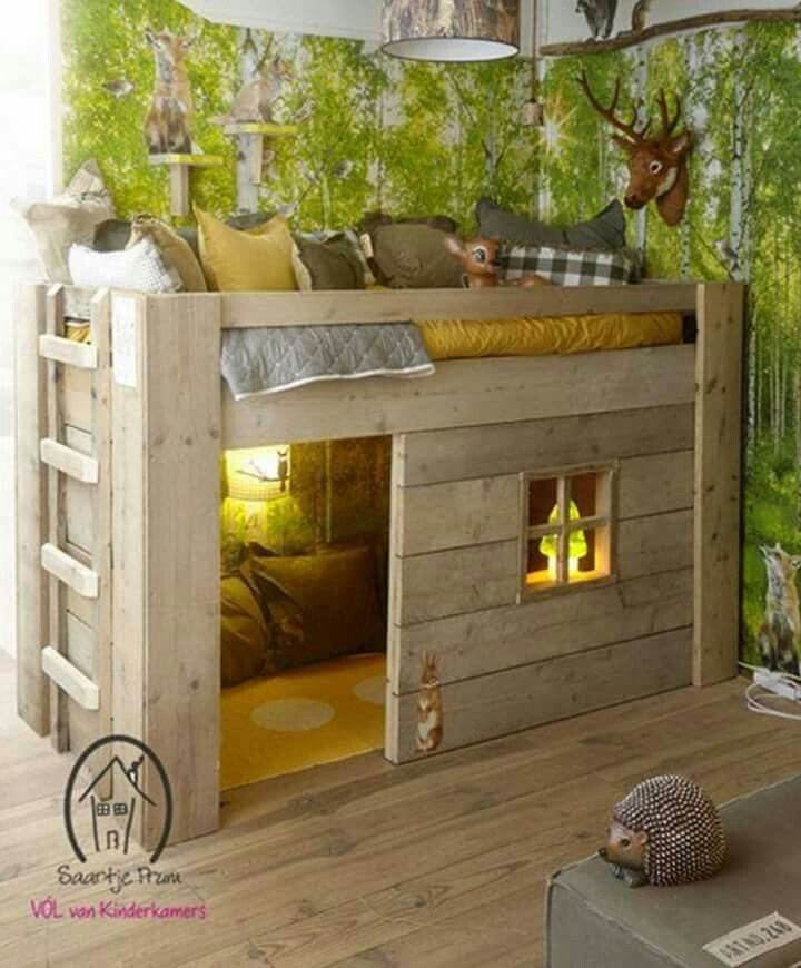kid bedroom ideas. Cabin theme bedroom Totally love this bunk bed with play area too 0a750134a79e0a4f6dd22133e36c62b0 jpg 720 870 pixels  Kids