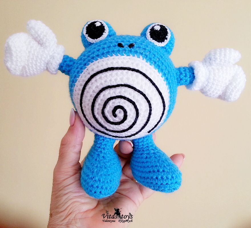 Crochet Pattern Of Poliwhirl Pokemon Go From Pokemon Amigurumi