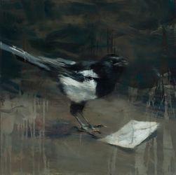 "Lars Elling I Goyas atelier III (2015) 24"" x 24"" / 60 x 60cm, eggoiltempera on canvas"