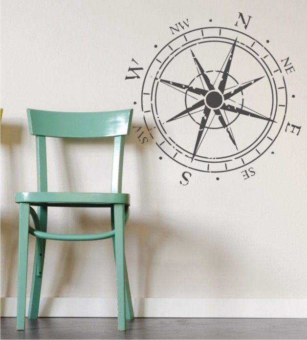 wandtattoo windrose als wandtattoo ein designerst ck. Black Bedroom Furniture Sets. Home Design Ideas