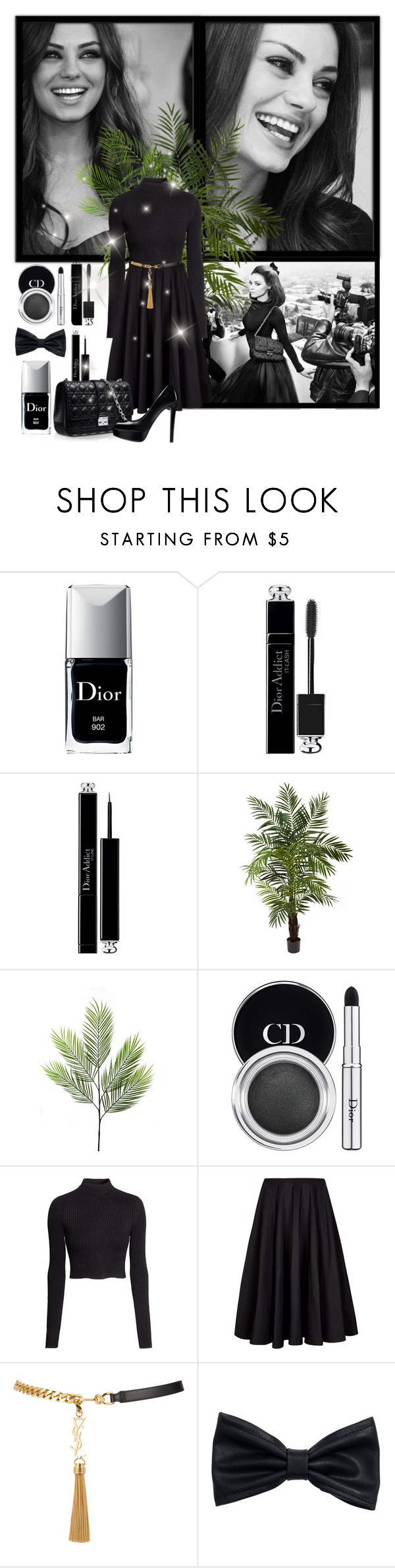 """Mila Kunis"" by giulietlove ❤ liked on Polyvore featuring Christian Dior, Nearly Natural, Linea, H&M, Ted Baker and Yves Saint Laurent"