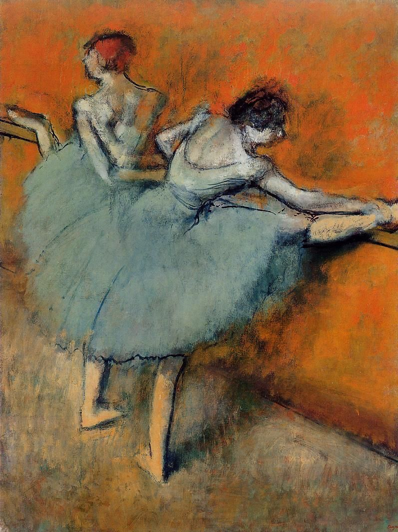 Dancers at the Barre Edgar Degas circa 19001905 Edgar