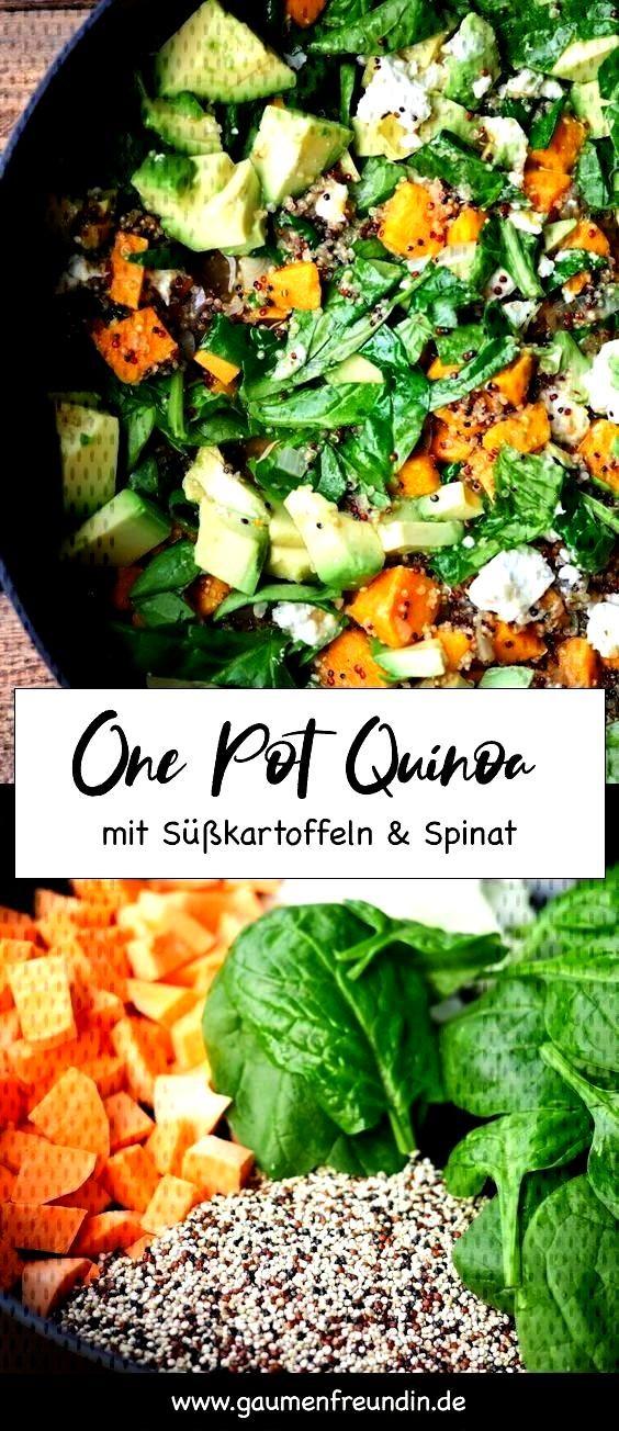 Werbung. One Pot Quinoa mit Spinat und Sükartoffeln - Gaumenfreundin FoodblogEnthält Werbung. One