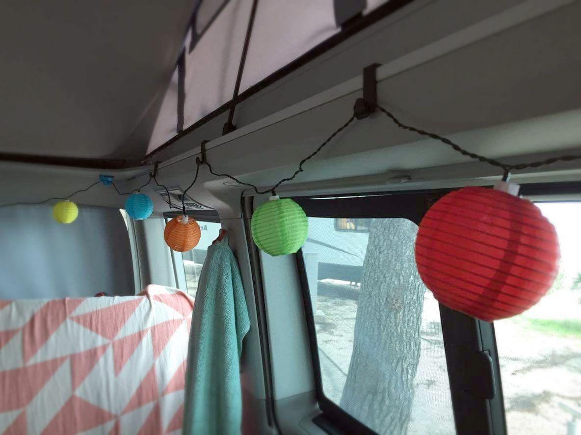 Lampions An Bushaken Von Busstoff De Campingideen Camping Busse