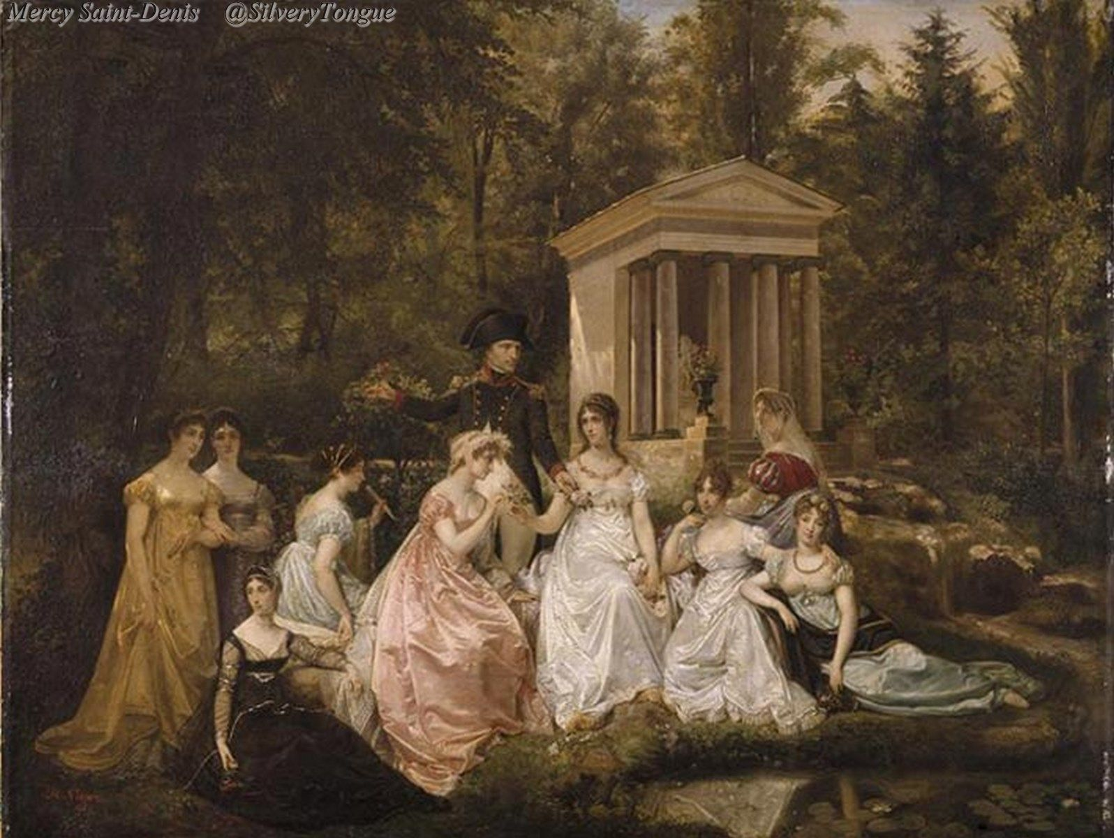 Josephine and her Ladies at Malmaison by Louis Victor Viger ...