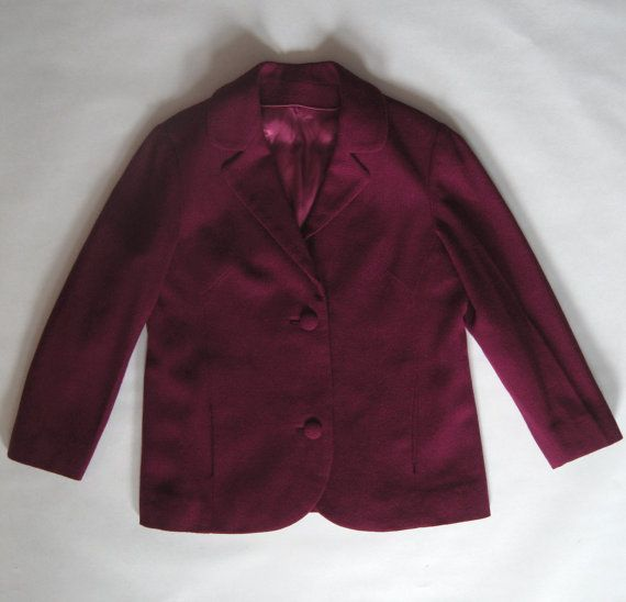 1960's cranberry red fancy jacket exquisitely by afterglowvintage, $58.00