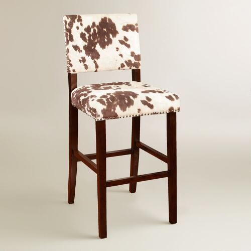 Strange Brown Cow Print Addison Bar Stool By World Market Our Gmtry Best Dining Table And Chair Ideas Images Gmtryco