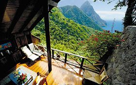Possibly one of the best views from a hotel room that I have ever seen! Ladera resort in St Lucia, West Indies