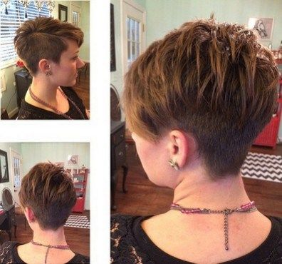 Layered Pixie Hair Cut One Side Shaved Hairstyles