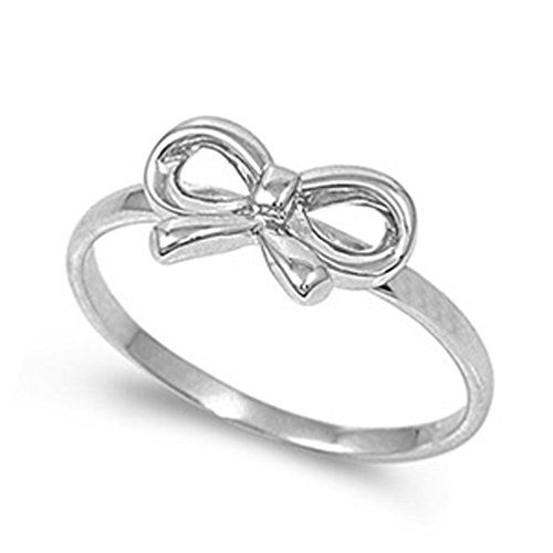 Sterling Silver Womans Cute Simple Bow Ribbon Ring Beautiful Comfort Fit Band 8mm Size 7 Valentines Day Gift Sac Silver Ring Size 7 http://www.amazon.com/dp/B00FO2G1T8/ref=cm_sw_r_pi_dp_1M76ub1Z4H170