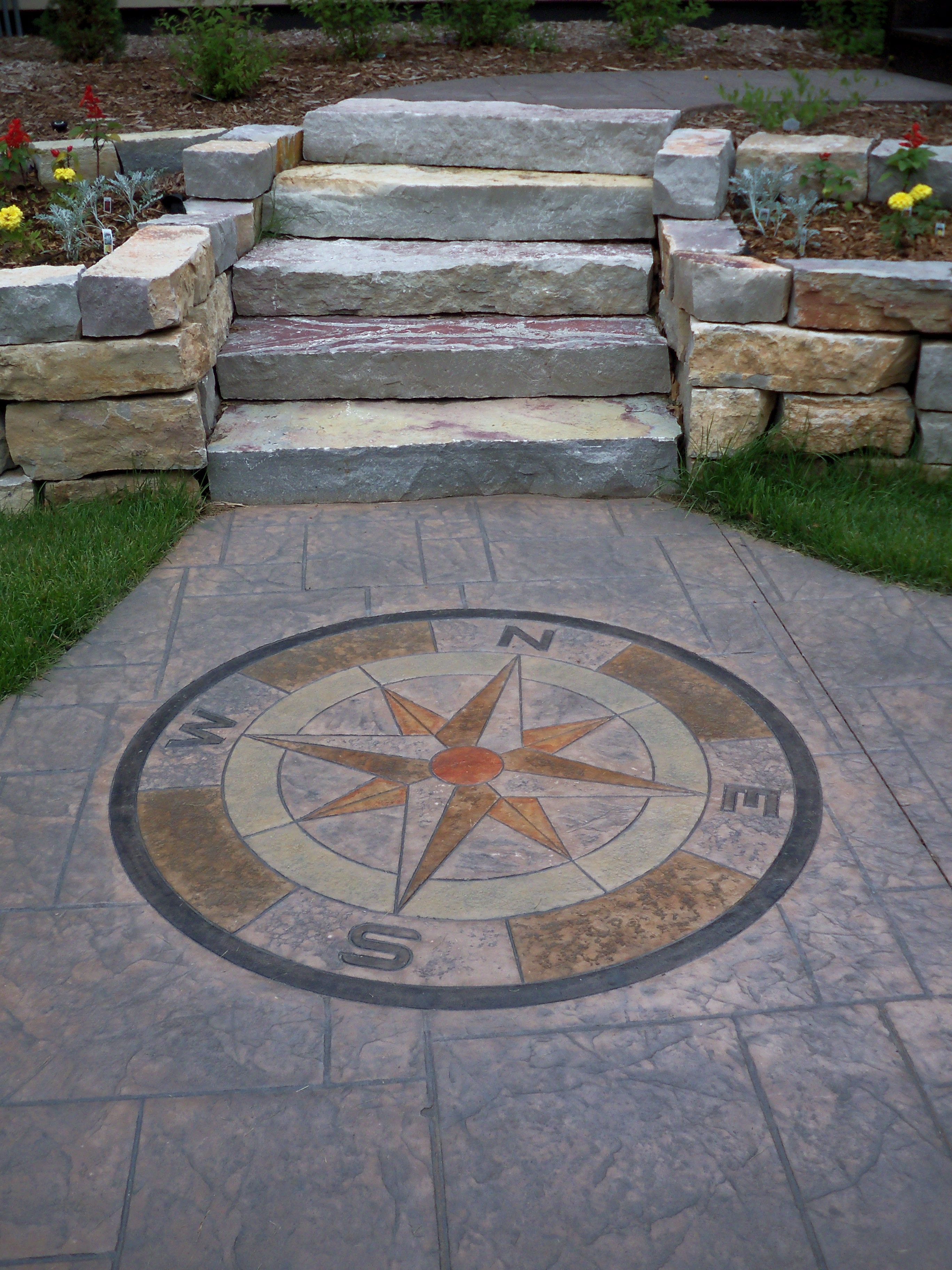 Compass Outdoor Landscaping Compass Rose Hardscape