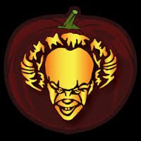 Image result for pennywise 2017 pumpkin stencil