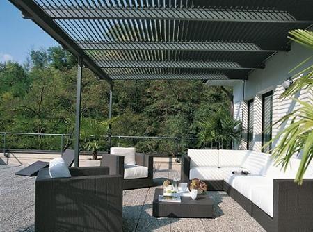 Resultado de imagen para pergolas metalicas aleros for Pergolas de hierro para jardin