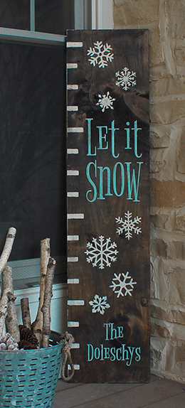 Let It Snow Ruler Welcome Sign 1x8 Or 1x10 Christmas Signs Winter Signs Christmas Wood