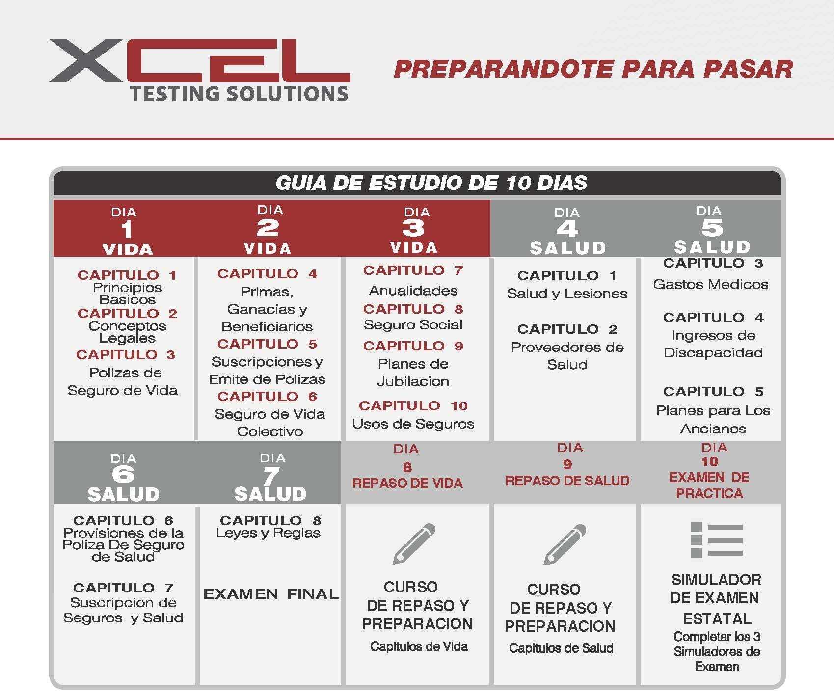 Xcel Testing Solutions Texas Pre Licensing Education Life And