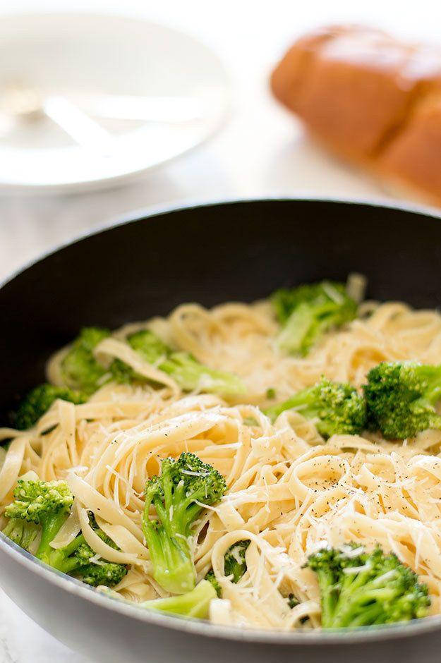 Easy Fettuccine Alfredo With Broccoli   Community Post: 15 Insanely Delicious…
