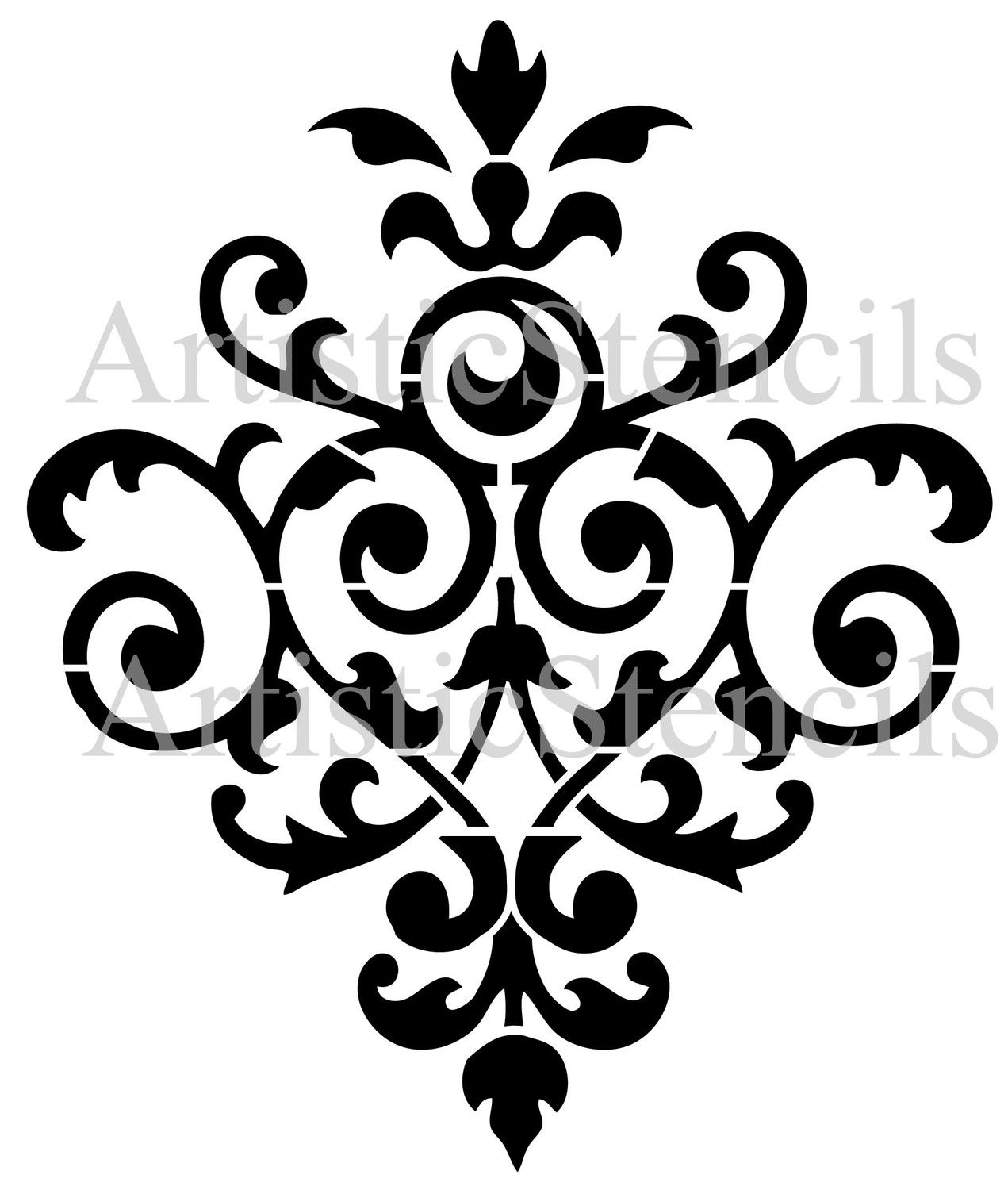 Vintage damask wallpaper background stencil no by artisticstencils vintage damask wallpaper background stencil no by artisticstencils amipublicfo Image collections