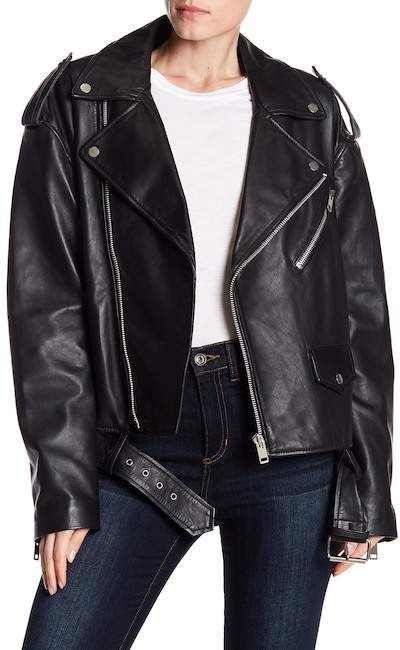 luxury aesthetic online here cheaper sale W118 by Walter Baker   Hope Leather Jacket   Fashion Forward ...