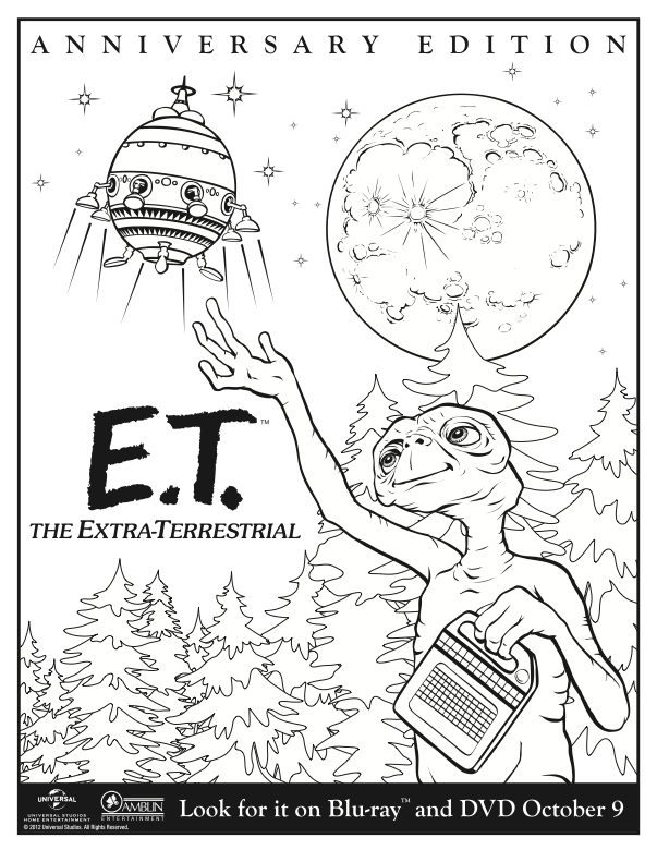 Enjoy This Printable E T Coloring Page E T The Extra