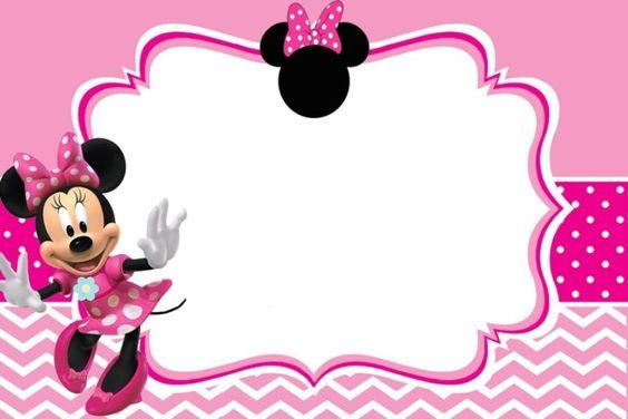 Minnie Mouse Birthday Party Invitation Template Free  Invitation Templates For Free