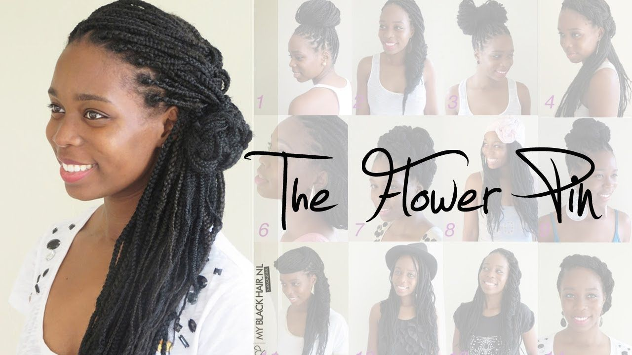 Box Braids Wedding Hairstyle | The Flower Pin | One Day <3 ...