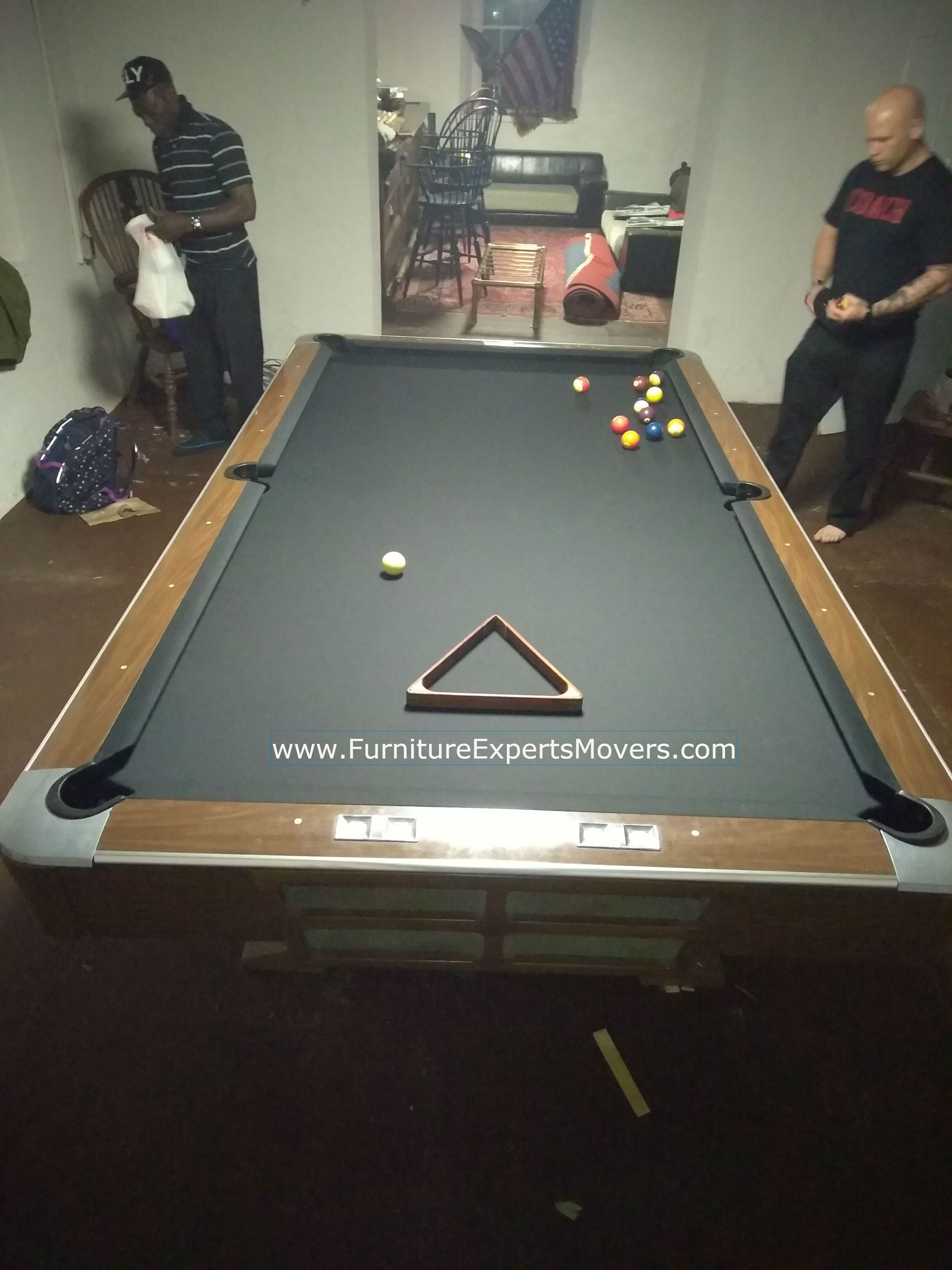 Billiard Pool Table Movers Same Day Service Disassembly