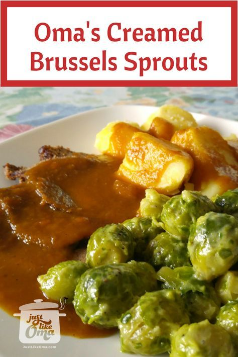 Rosenkohl = Brussels Sprouts. With butter and cream, of course. Perfect accompaniment to this sauerbraten. Leckerschmecker! Here's how: http://www.quick-german-recipes.com/brussel-sprouts-recipes.html