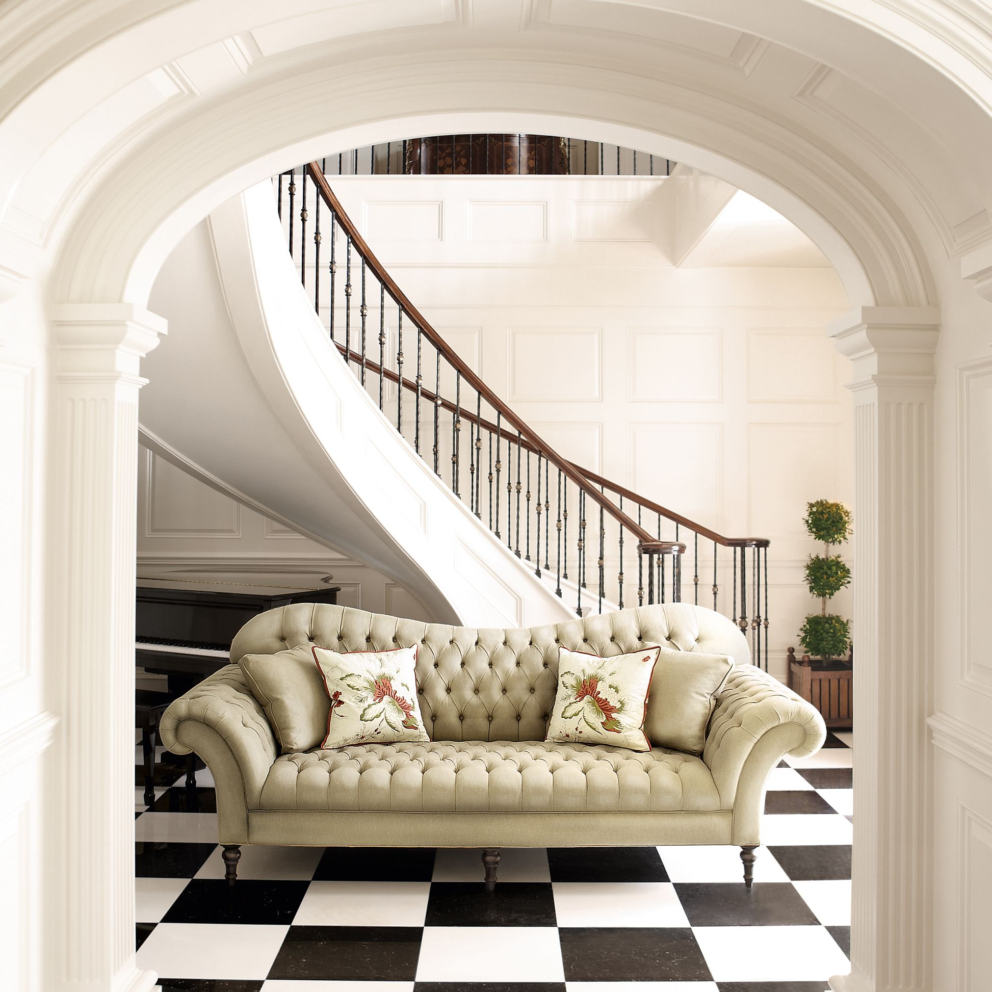 Club Sofa - Arhaus - Custom Upholstery - Cannes Ivory - 96\