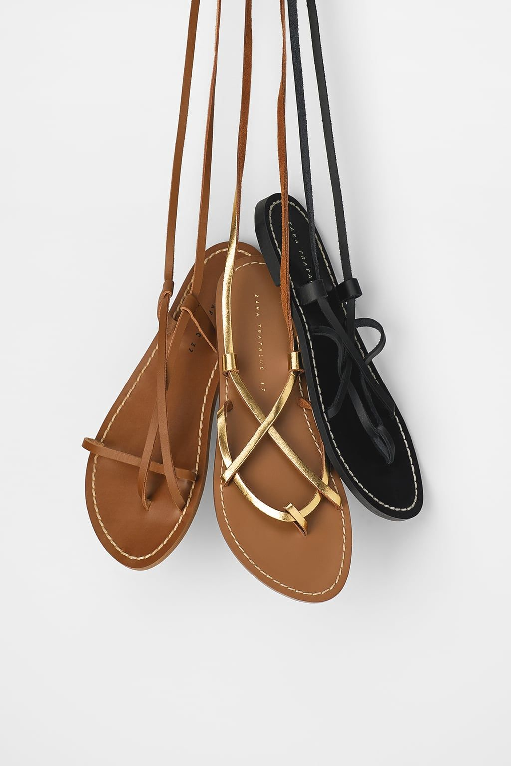 d8b85c103bd95 LOW - HEELED STRAPPY LEATHER SANDALS-View all-SHOES-WOMAN | ZARA United  States