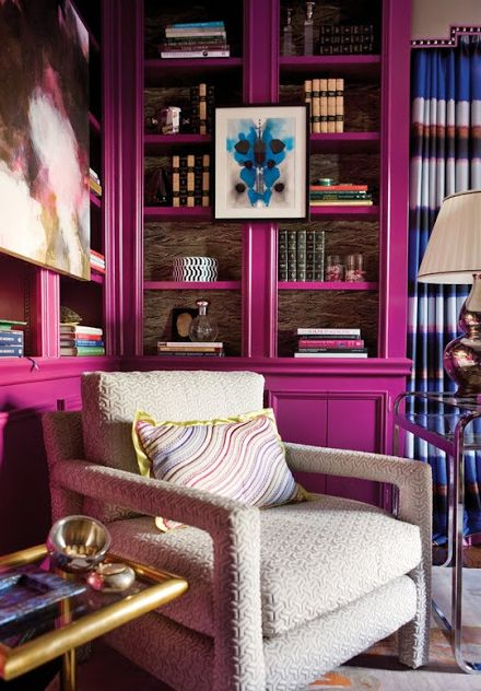 Pink bookcases anyone?