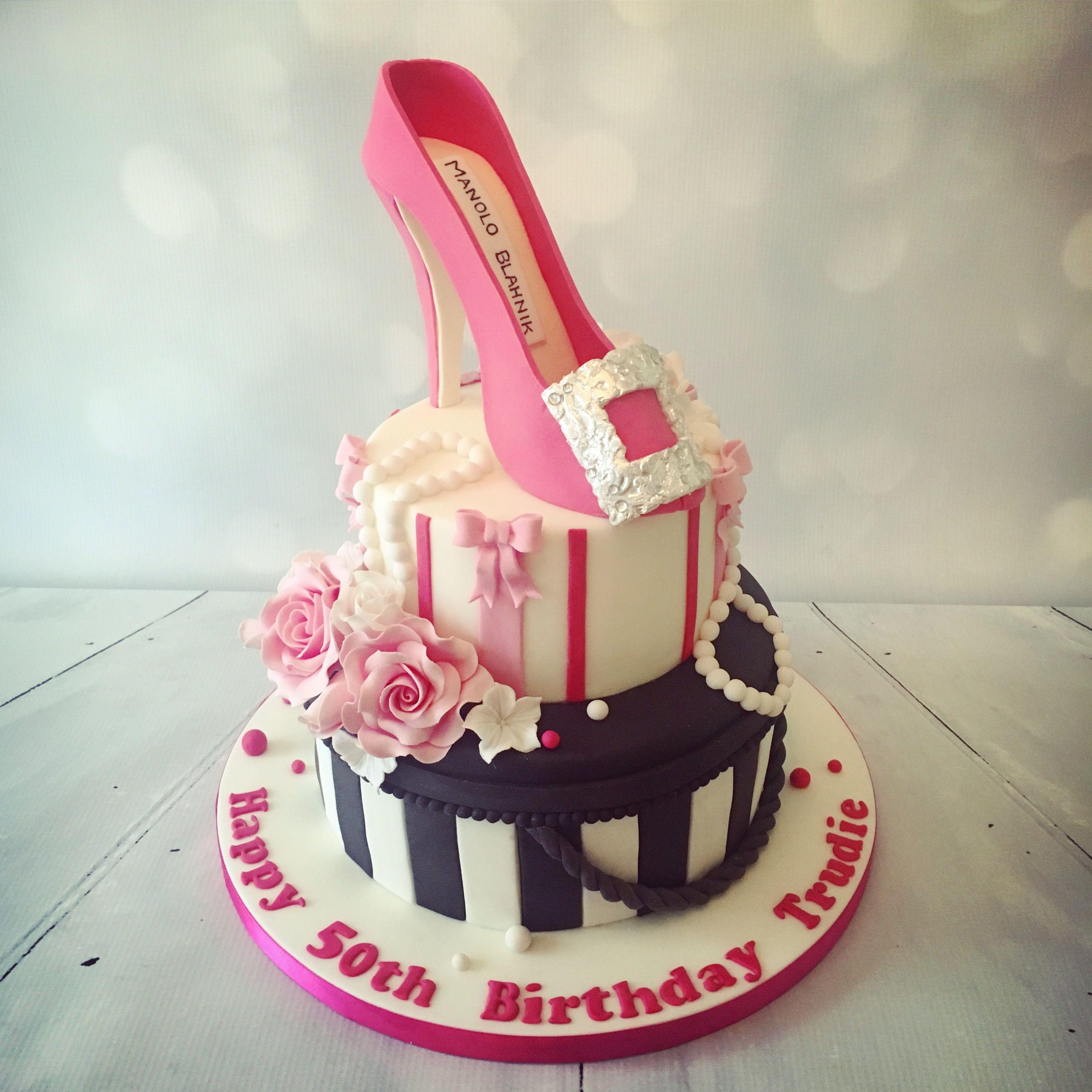 Shoe Birthday Cake Sugarcraft Creations Pinterest