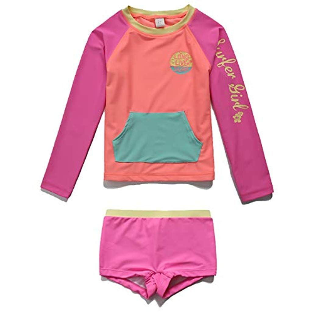 Sun Protection Bathing Suits PHIBEE Boys One Piece Rash Guard Swimsuit Short Sleeve UPF 50