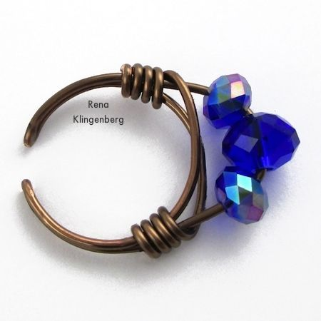 Adjustable Wire-Wrap Bead Ring - Tutorial by Rena Klingenberg | Wire ...