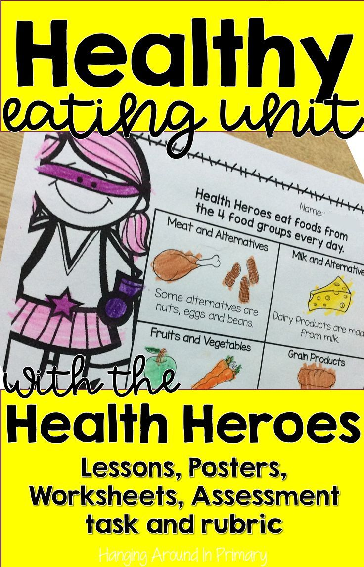 Bundled healthy eating unit with lessons and rubric