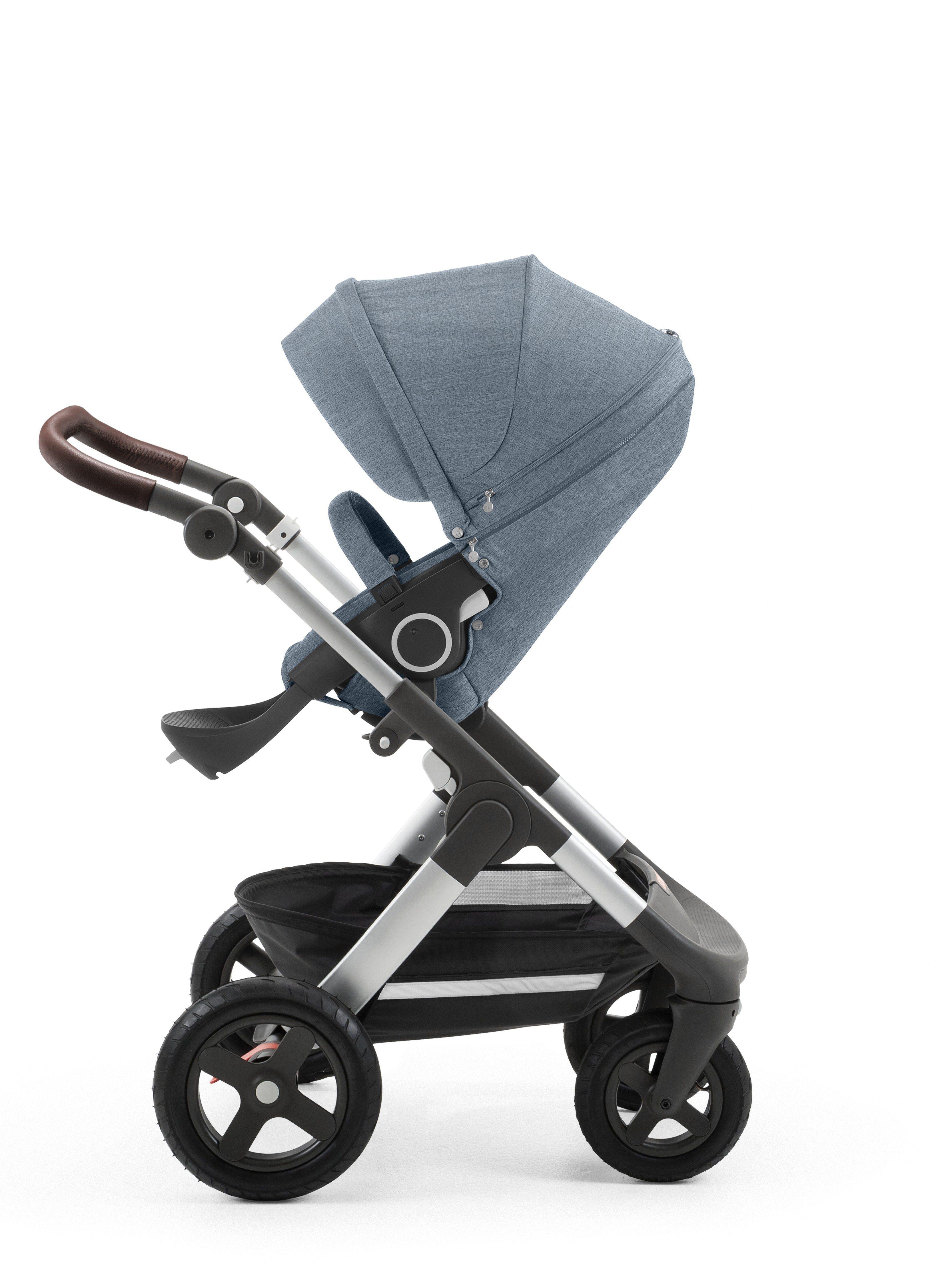 Stokke Trailz Stroller Nordic Blue with AllTerrain