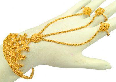 0f9db3cb2e6fa 22kt Panja   HaathPhool   Clean gold jewelry, Gold jewelry, Jewelry