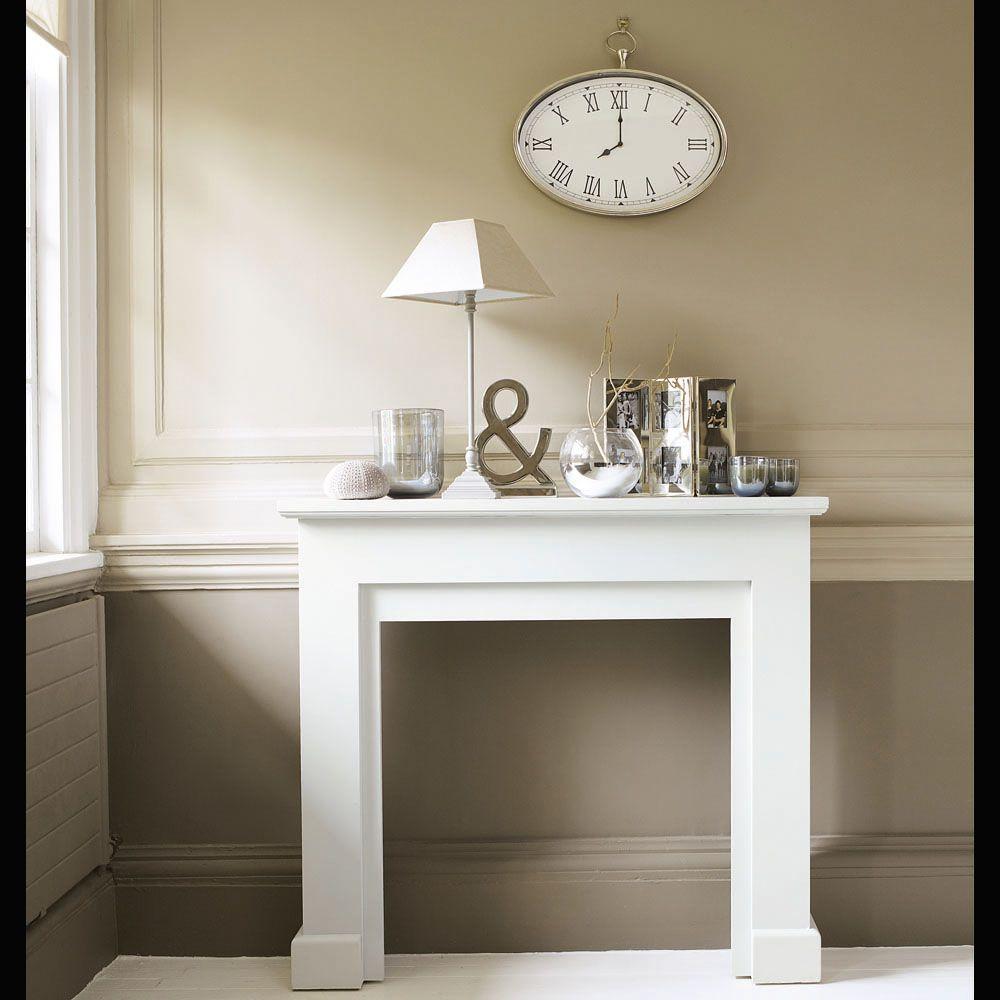 Marco de chimenea decorativo blanco freeport marco de - Chimenea blanca decorativa ...