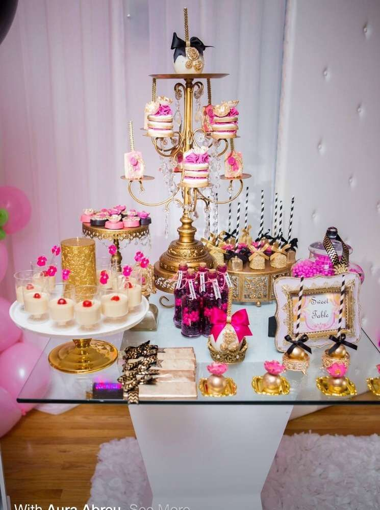 Glittery sparkle birthday party! See more party planning