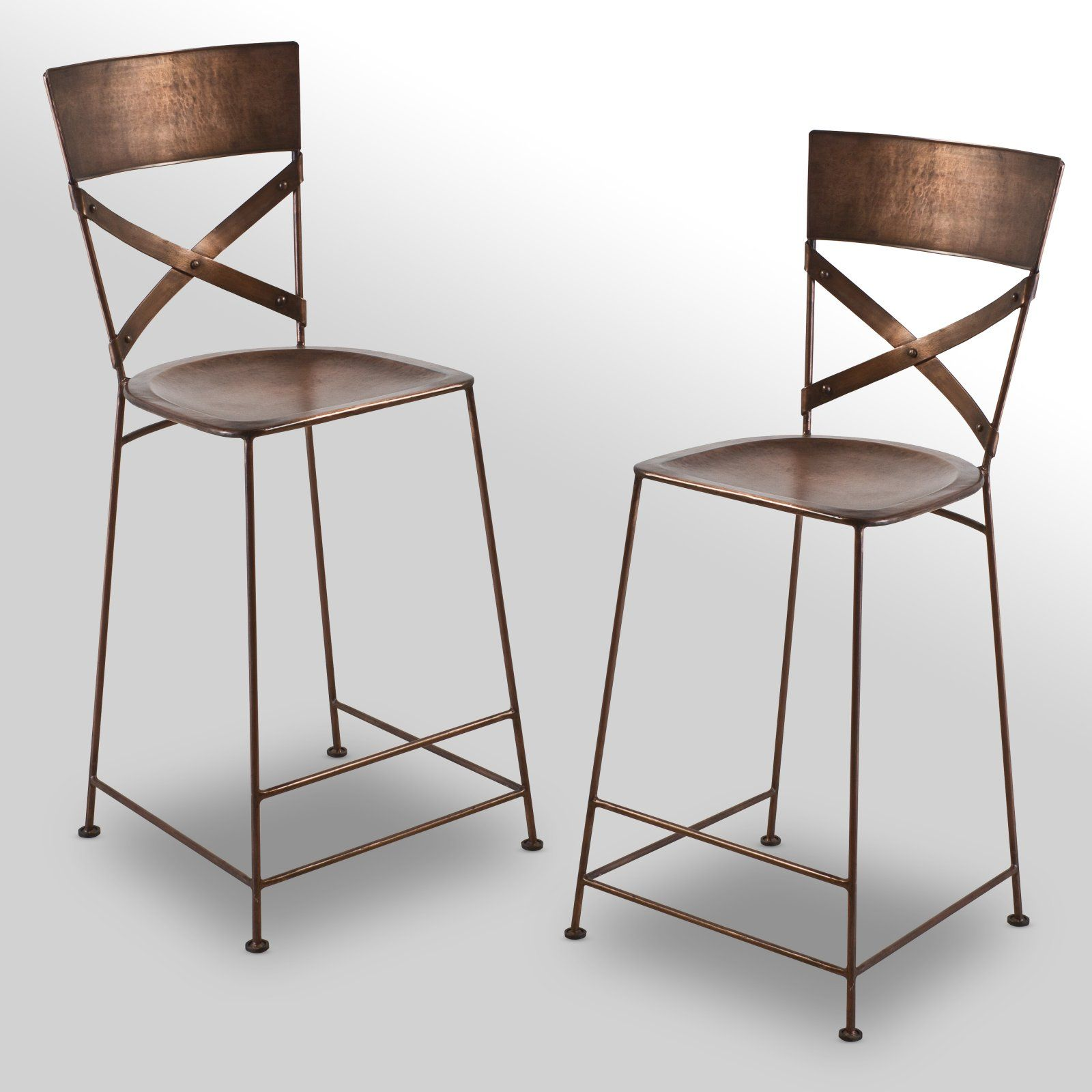 The Foundary - Jabalpur Copper Counter Stools
