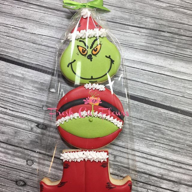 Taking orders through today! Pricing and options are on previous post. #Grinch #grinchcookies #customcookies #christmas #grinchcookies