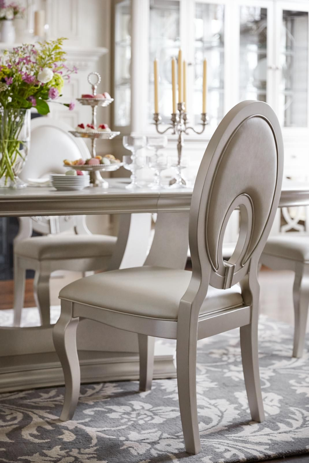 We are LOVING this Allegro chair. In the right light it changes color from gold & We are LOVING this Allegro chair. In the right light it changes ...