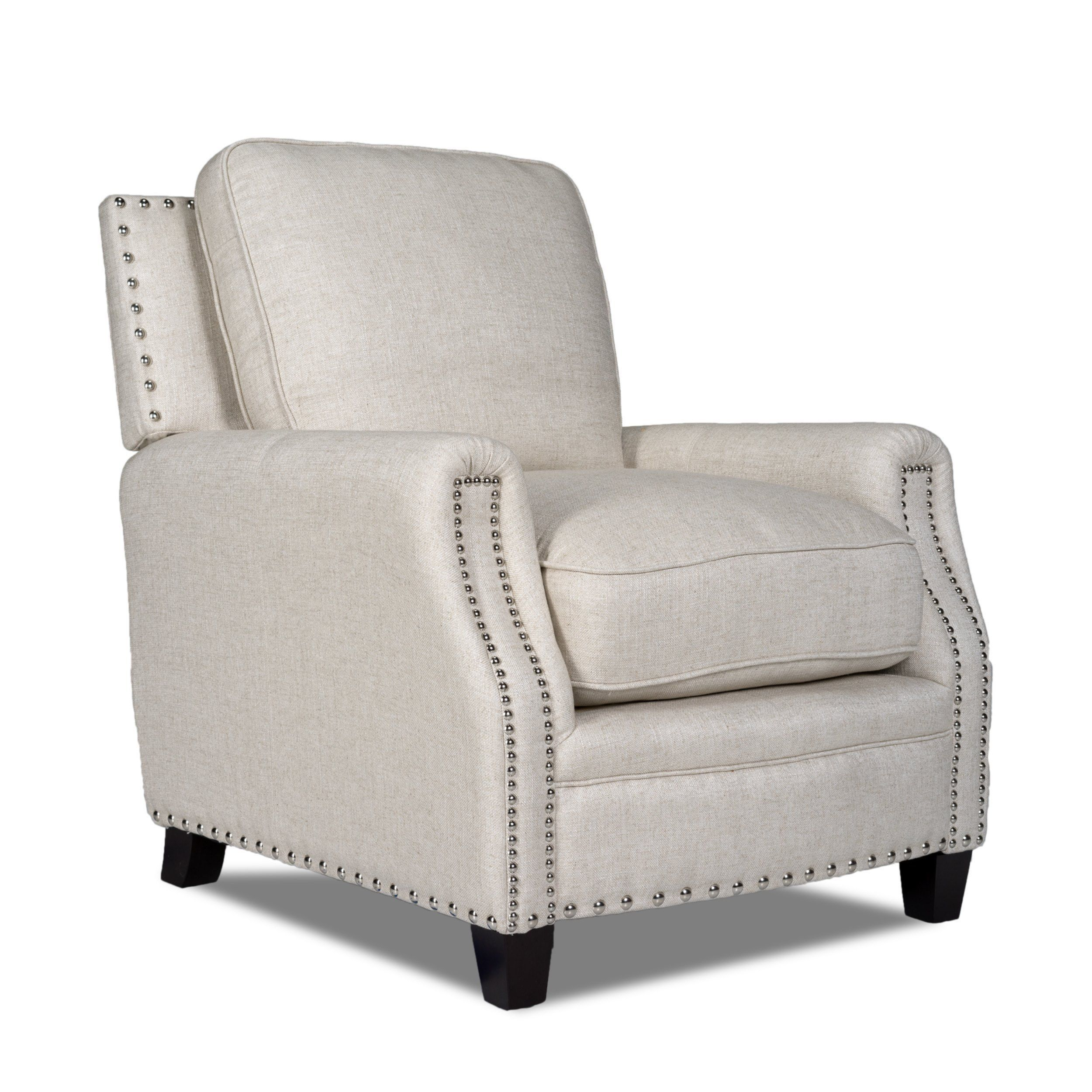 Bradford II Brussels Linen Nailhead-trim Chair - Overstock Shopping - Great  Deals on Opulence Home Living Room Chairs