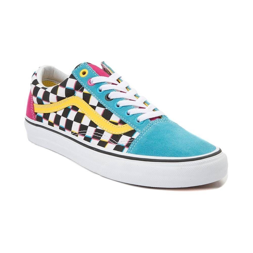Vans Old Skool Checkerboard Skate Shoe Multi Vans Old Skool Skate Shoes Shoes