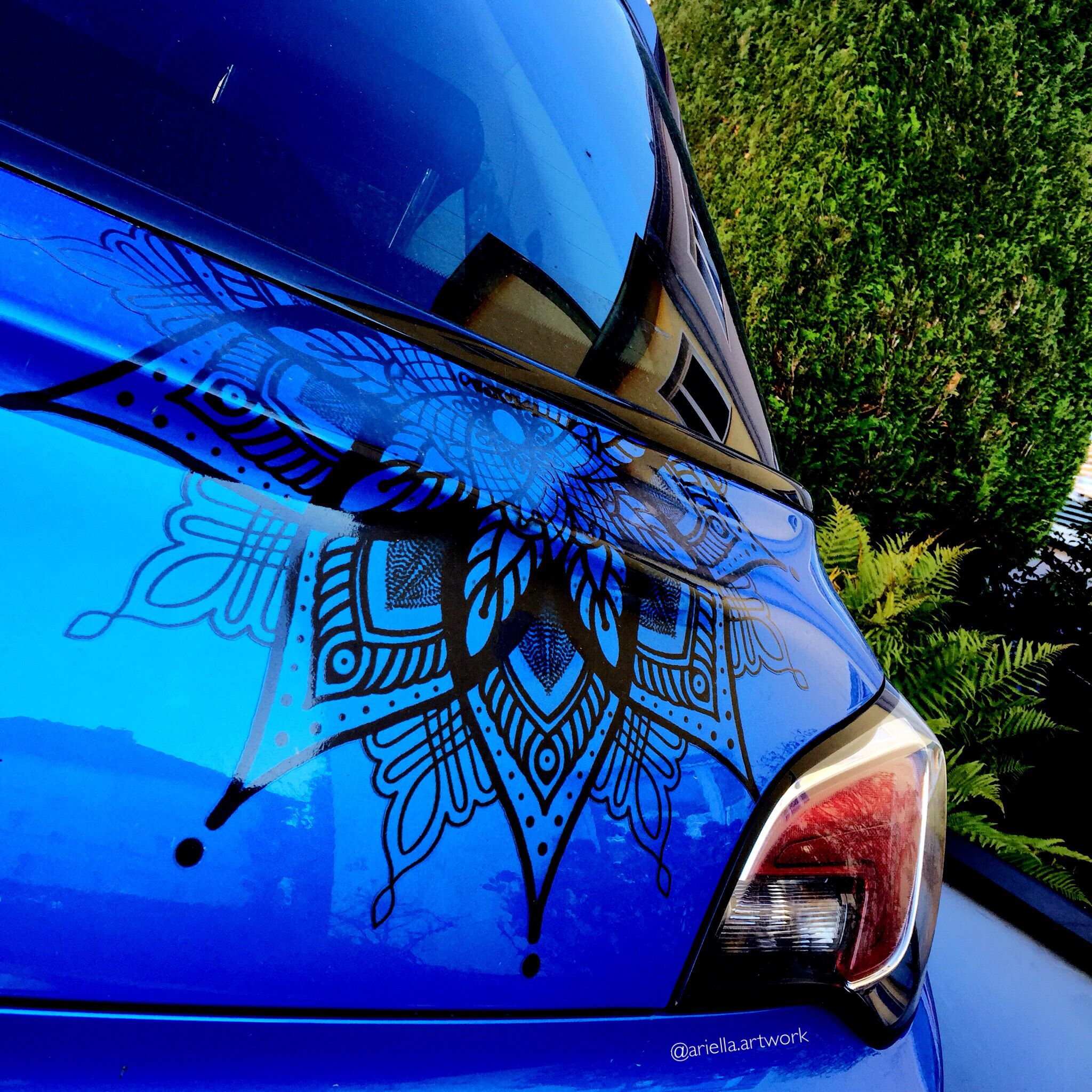 Mandala Aufkleber Als Cartattoo Sticker Mandala Car