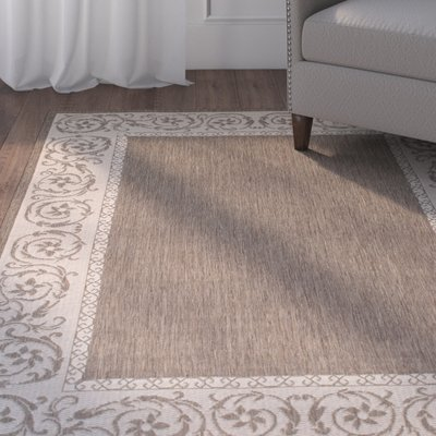 Charlton Home Annapolis All Weather Mocha Indoor Outdoor Area Rug Indoor Outdoor Area Rugs Outdoor Area Rugs Area Rugs
