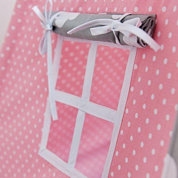 teepee tent cloudy rose rosa wolken kinder spielen. Black Bedroom Furniture Sets. Home Design Ideas