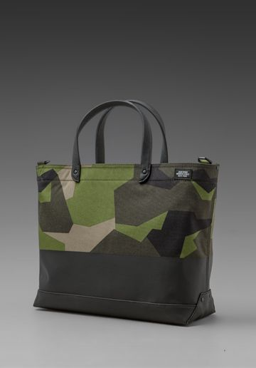Jack Spade Swedish M90 Cordura Dipped Coal Bag in Green/Black
